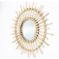 감성 등나무 거울 아트 장식 발리 거울 인테리어소품