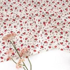 [Fabric] 수줍은듯 붉게 물든 카멜리아, 패턴 코튼