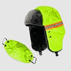 형광 겨울 한파 야외활동 군밤 털 스키 트래퍼 마스크 방한 털 귀달