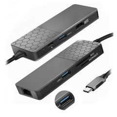 7in1 C타입 멀티 USB3.0 허브 TGMHL-G1000 랜카드+HDMI+PD고속충전