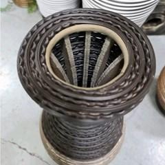 인테리어 소품 PVC 라탄 투톤 화병 카푸치노 중