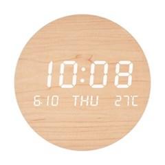 우드클락 무소음 충전식 LED 인테리어 디자인시계