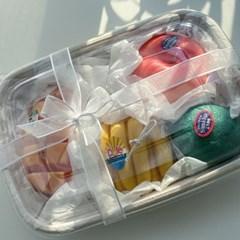 [1+1] 천연 라임 캔들 과일 단품 캔들 생일선물 답례품 방향제