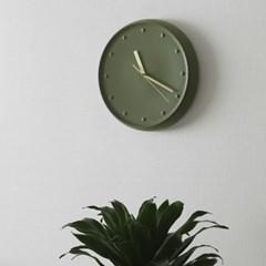 세린벽시계_올리브 그린