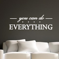 you can do everything 감성 레터링 스티커