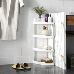 코너 틈새 정리 대 선반 화장실 욕실 철재 수납 장
