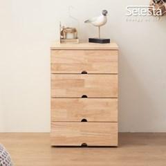 미니원목 400 협탁 4단 고무나무 서랍장