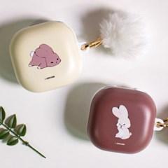 몽실몽실 토끼 버즈 라이브 프로 버즈2 하드 케이스 - 두손두발
