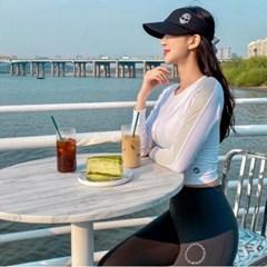 몬스터지 여성 썬캡 골프 모자