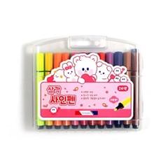 8500 삼각 사인펜 (24색/핑크)