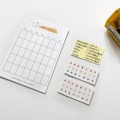 딜라잇모드 먼슬리플래너세트 메모지 monthly Planner set