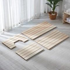 편백나무 고급 통원목 와이드 욕실발판 (중) 850x440