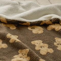 양털 극세사 담요 고미 - 브라운
