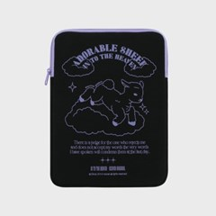 ADORABLE SHEEP-BLACK(아이패드 파우치)
