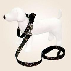 강아지 목줄 대형견 리드줄 쏘아베 목줄세트 25mm