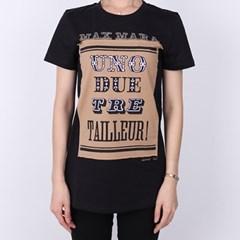 21FW 막스마라 POLO 프린팅 티셔츠 (블랙) POLO BLACK