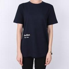 21FW S막스마라 OCCHIO 로고 프린팅 티셔츠 (네이비) OCCHIO 004 NAV