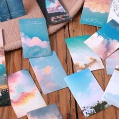 인스타 감성 하늘 구름 노을 사진 다꾸 스티커