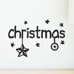 christmas 별과 방울 오너먼트 레터링 크리스마스 스티커