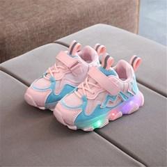 아동 유아 LED 라이트 운동화 어글리슈즈 키즈 신발 J