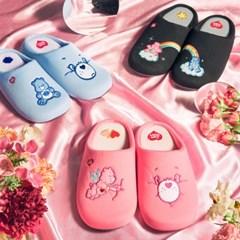 케어베어 거실화 3종_블랙,블루,핑크