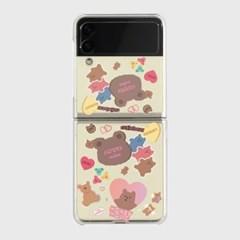 bear sticker pack Z플립3 클리어하드케이스