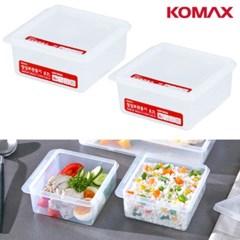 냉장고 반찬통 밀폐용기 22호700ml 2P세트 사각 수납 냉동실정리