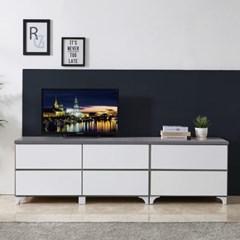 [에띠안]에디 2단 1900 (700+1200) TV 거실장 와이드 서랍장 3색상
