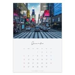 2021 12월 뉴욕 감성 포스터 달력