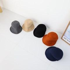 울 니트 벨크로 와이드 챙넓은 버킷햇 벙거지 모자