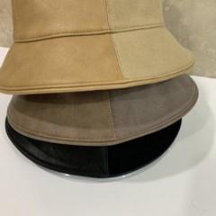 코튼 데러 가죽 기본 심플 패션 버킷햇 벙거지 모자