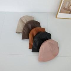 레더 가죽 챙넓은 기본 무지 버킷햇 벙거지 모자