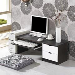 모던 컴퓨터 좌식책상 600+300협탁세트 1인용 테이블