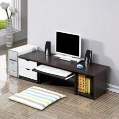 모던 컴퓨터 좌식책상 802+300협탁세트 1인용 테이블