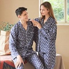 페리힐즈 커플잠옷세트 네이비플라워 긴팔 잠옷(7024)