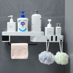 각도조절 접착식 욕실선반 화장실 모서리 코너 선반