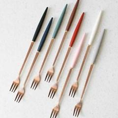 (에펠 로즈골드) 롱스푼 롱포크 8colors