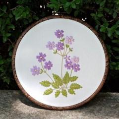감성스티치의 바이올렛 앵초꽃 자수