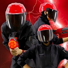 전대물 슈퍼 히어로 모자 헬멧가면 (레드)