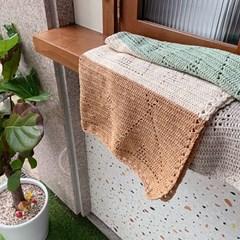 [DIY+동영상] 인디언 캠핑 빈티지 코튼 블랭킷 코바늘 뜨개질