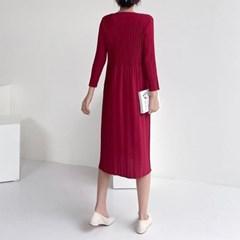 Pleats Midi Dress - 긴팔
