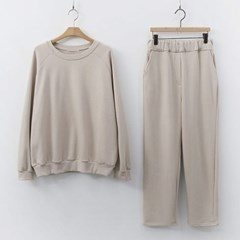 [Set] Formal Sweatshirt + Straight Pants