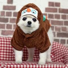 강아지 겨울 외출복 실내복 부엉이 코스튬의상
