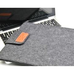 펠트 노트북 슬리브 파우치 15인치(다크 그레이)