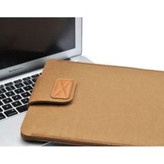 펠트 노트북 슬리브 파우치 15인치(브라운)