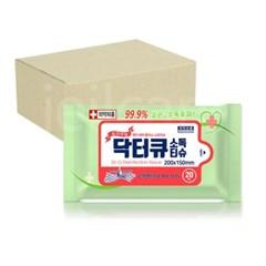 닥터큐 휴대용 소독티슈 20매 60개 /의약외품