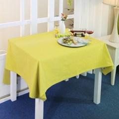 면 100% 테이블 커버 옐로우