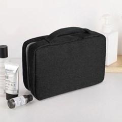 트래블 3단 사각 파우치(블랙) 세면가방 수영장파우치
