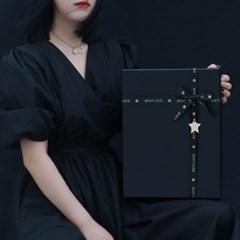블랙레더 리본 선물상자 쇼핑백 선물포장 케이스