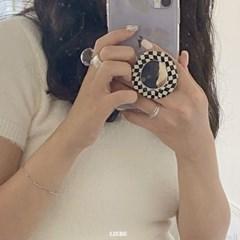 [핸드폰 거치대] 체커보드 미러 그립톡